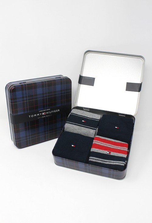 Tommy Hilfiger Socks 4-Pack Original Stripe Men's Socks Gift Box