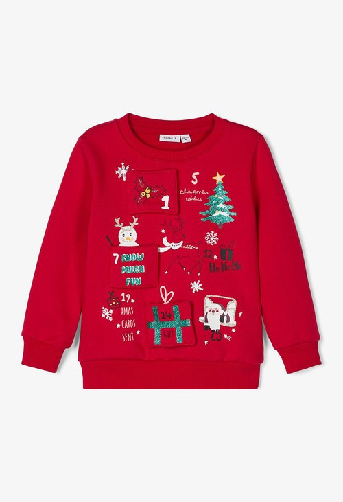 PS Kids Jester Red Kids Knit Christmas Jumper