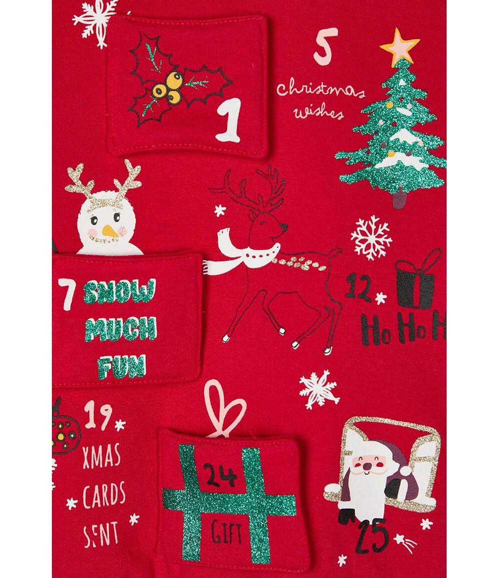 PS Kids Jester Red Kids Knit Christmas Jumper