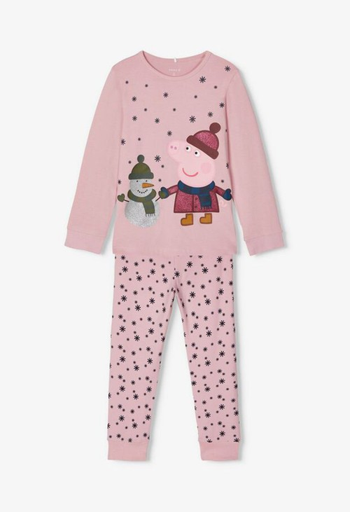 PS Kids Pink Nectar Kids Peppa Pig Nightwear
