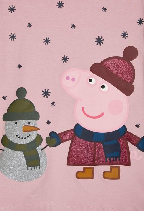 PS Kids Pink Nectar Kids Peppa Pig Nightwear