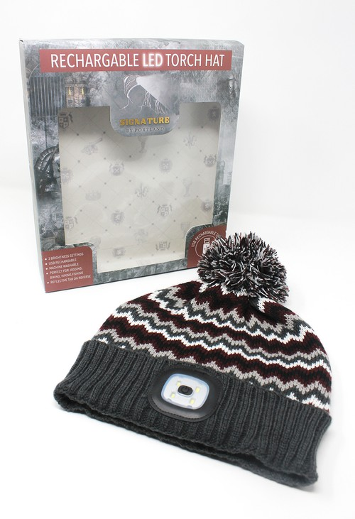 Something Special Zig Zag Bobble LED Hat