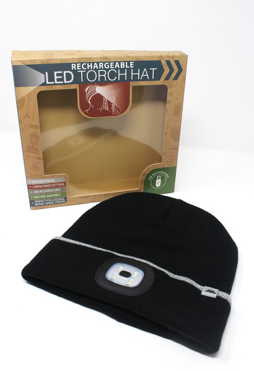 Something Special Black Hat with LED Torch
