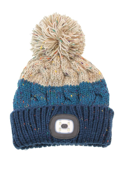 Something Special Blue Knit Hat with LED Torch