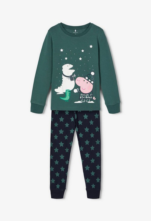 PS Kids Bistro Green Kids Peppa Pig Nightwear Gift Set