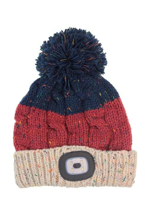 Something Special Teracotta Knit Hat with LED Torch