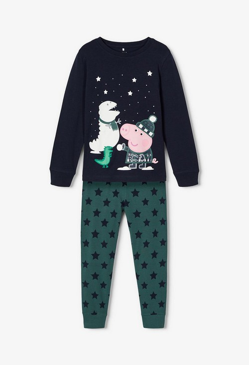 PS Kids Dark Sapphire Kids Peppa Pig Nightwear Set