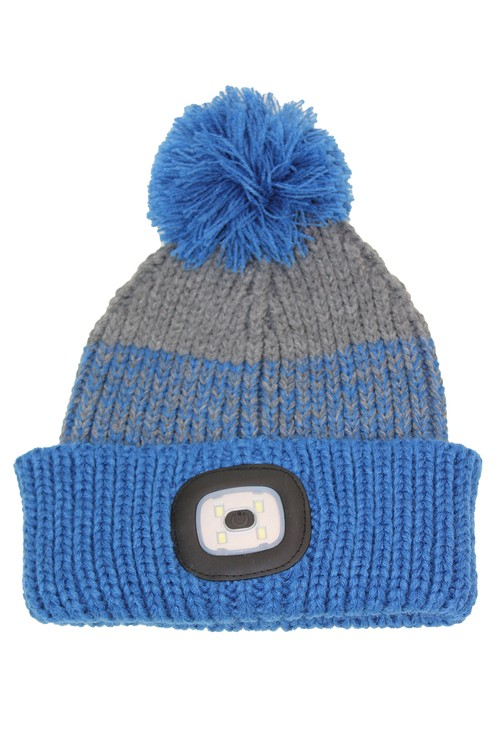 Something Special Blue Kids Knit Hat with LED Torch