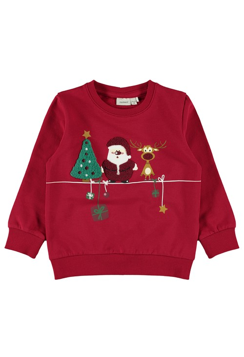 PS Kids Jester Red Kids Christmas Jumper
