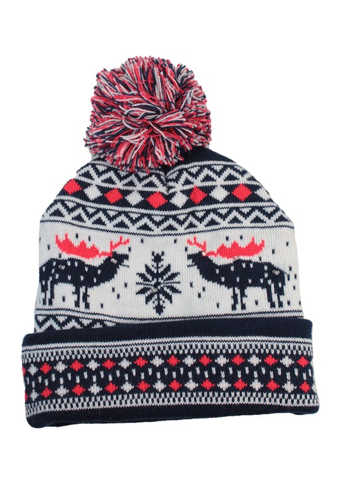 Something Special Reindeer Christmas Knit LED hat