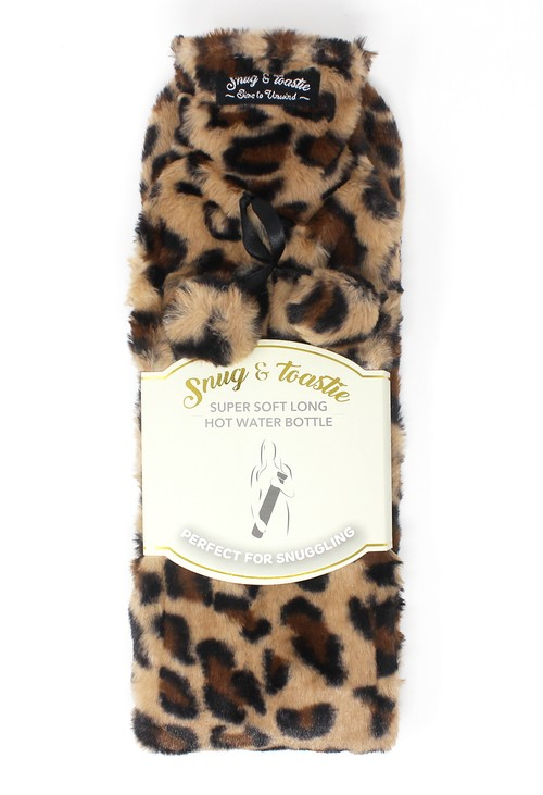 Something Special Leopard Extra Long Hot Water Bottle