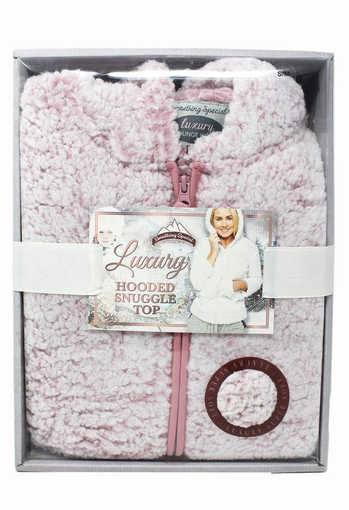 Something Special Dusty Pink Hooded Snuggle Top