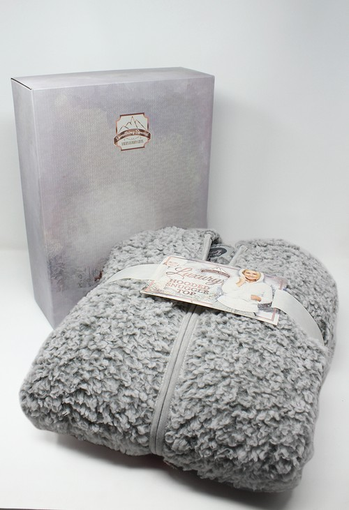 Something Special Light Grey Hooded Snuggle Top
