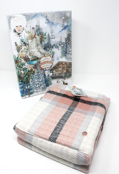 Something Special Pink Vintage Ladies Pocket Scarf Gift Box