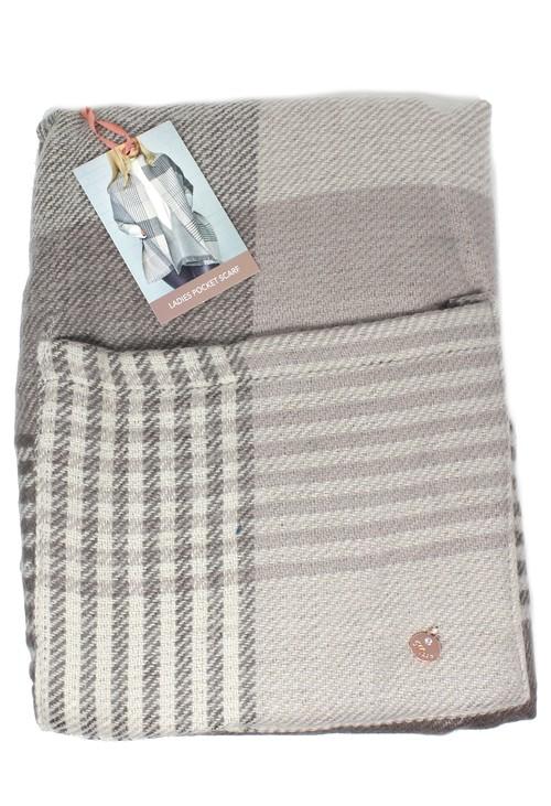 Something Special Grey Vintage Ladies Pocket Scarf