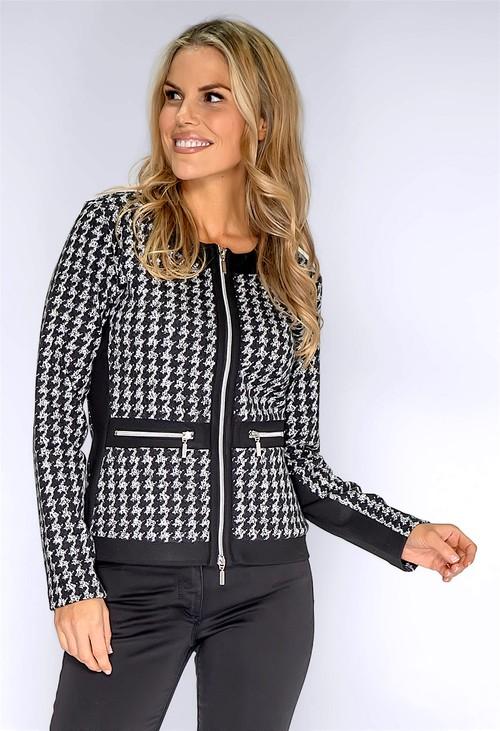 Betty Barclay Black Printed Knit Jacket