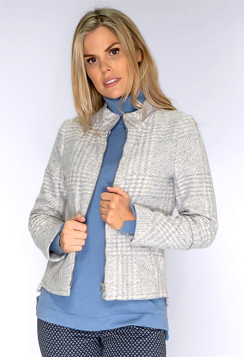 Bianca Grey and Clotted Cream Knit jacket