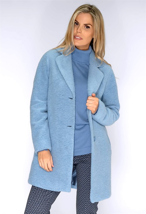 Bianca Powder Blue Wool Coat