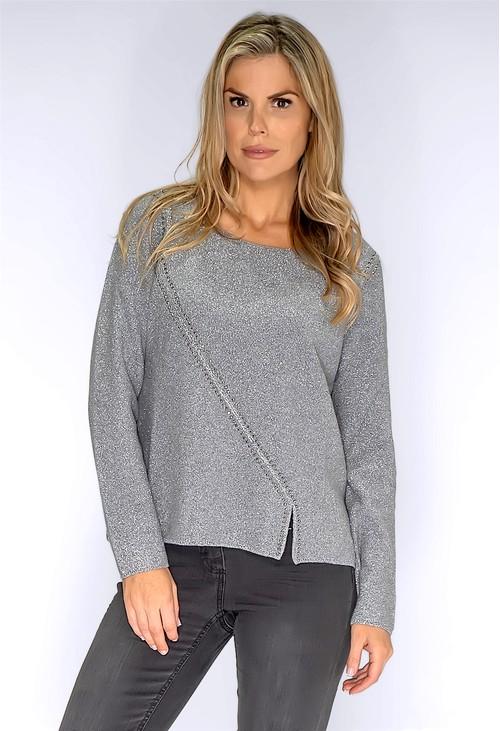 Monari Silver Studded Pullover