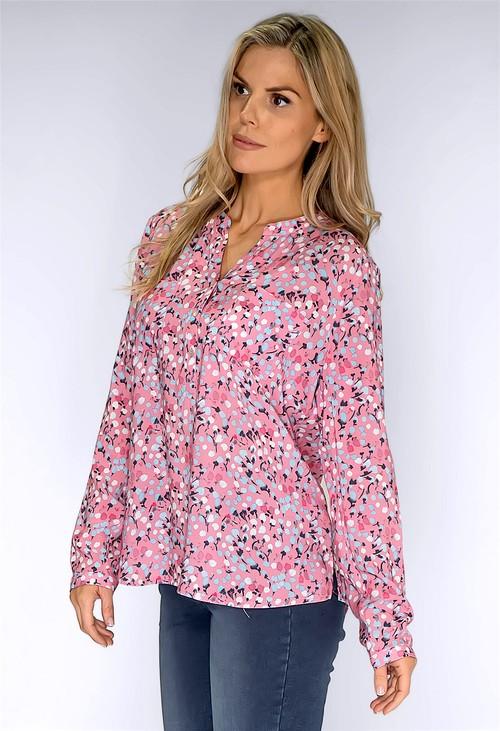 Twist Pink Cotton Print Shirt