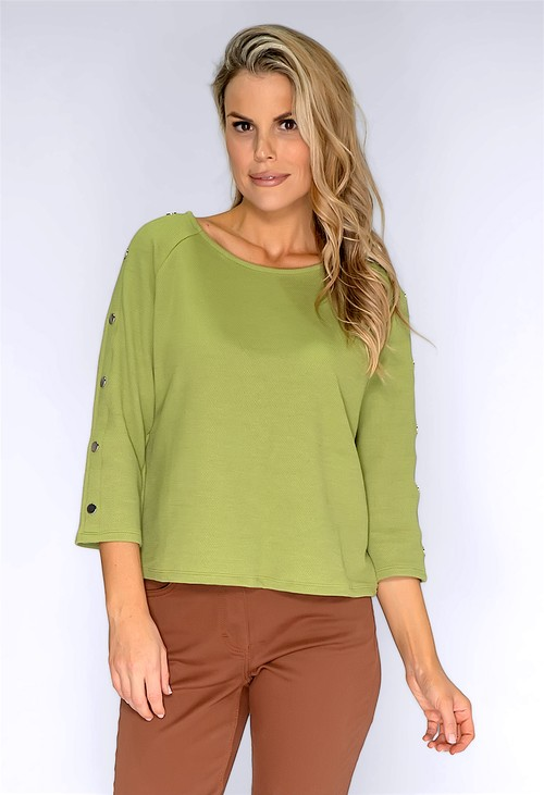Betty Barclay Moss Green Sweatshirt