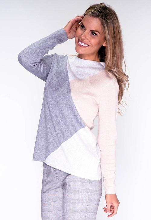 Bianca Grey Triangle Design Knit