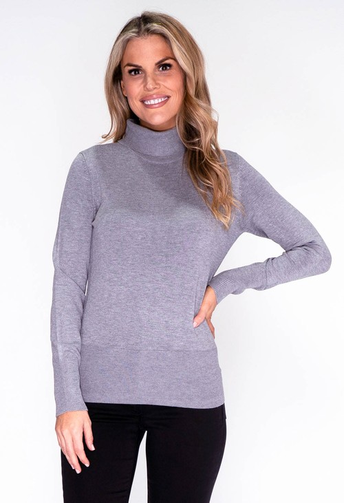 Betty Barclay Grey Knit Turtleneck