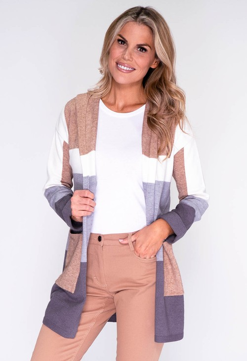 Betty Barclay Grey Panelled Open Cardigan