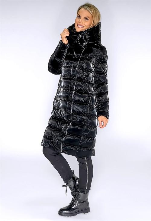 ICON Black Hologram Long Coat