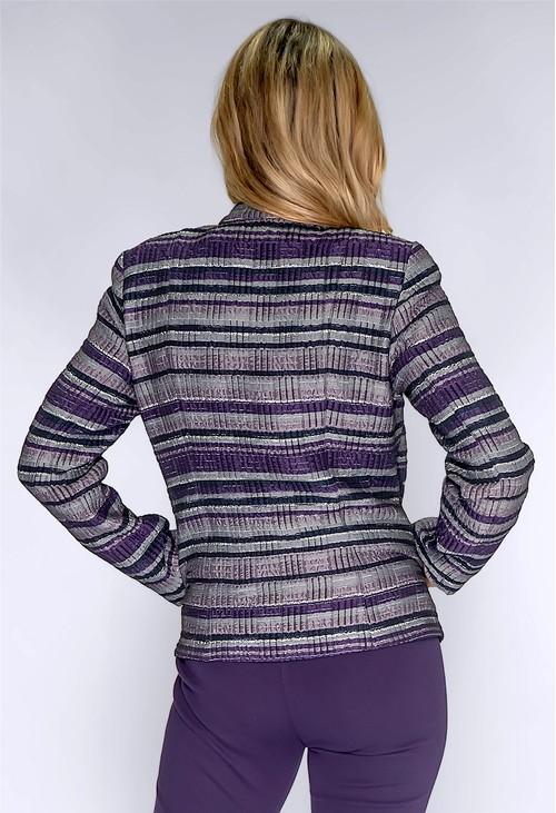 Frank Walder Purple and Silver Zip Up Jacket