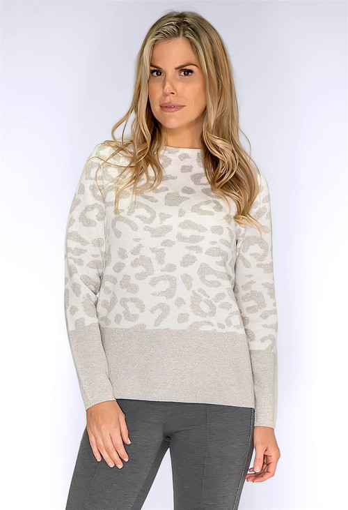 Bianca Snow Leopard Print Pullover