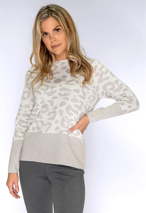 Bianca Snow Leopard Print Pullover