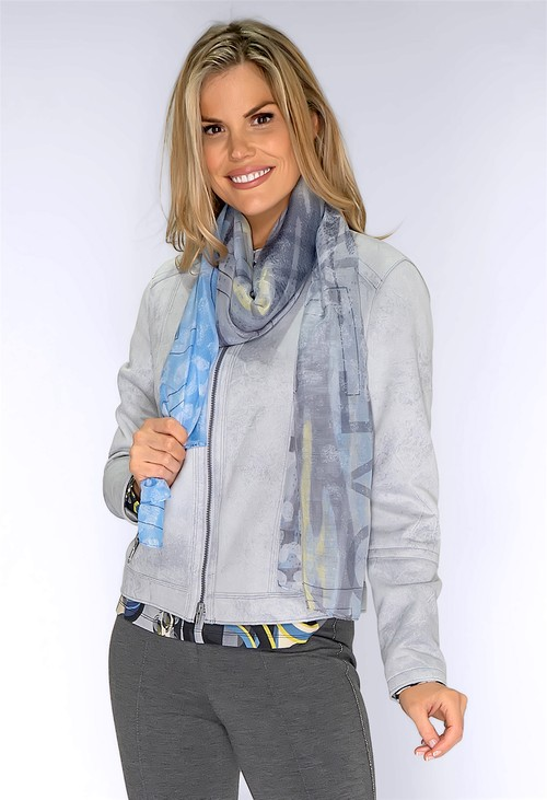 Bianca Blue Abstract Print Scarf