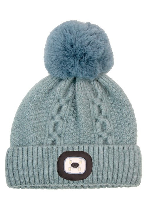 Something Special Blue Chunky Knit Hat with LED Torch