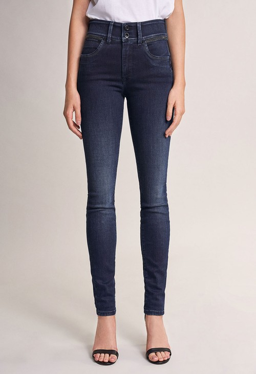 Salsa Jeans 30 Leg Push in Secret Skinny Jeans with Sparkle on Belt