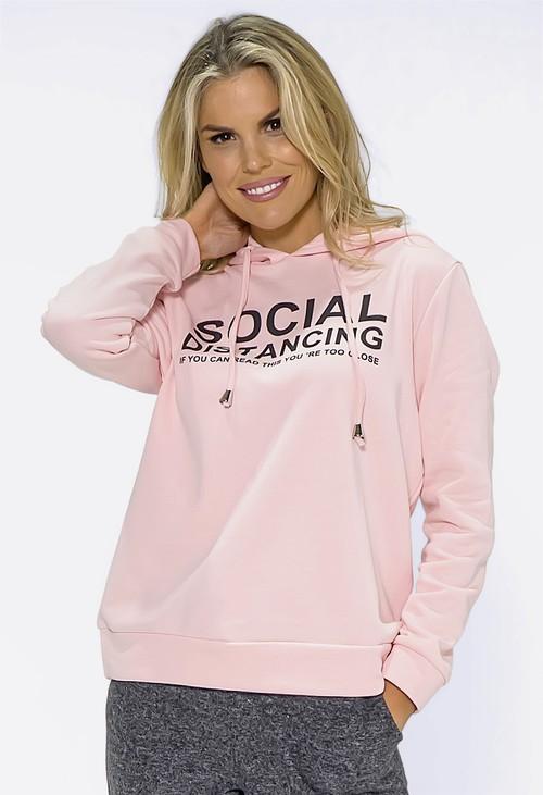 Pamela Scott Soft Pink Social Distance Jumper
