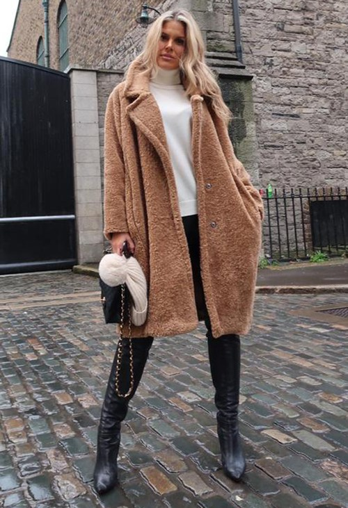 Zapara Oversized Teddy Coat