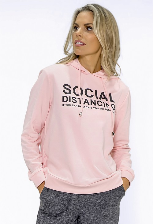 Pamela Scott Soft Pink Social Distance Jumper