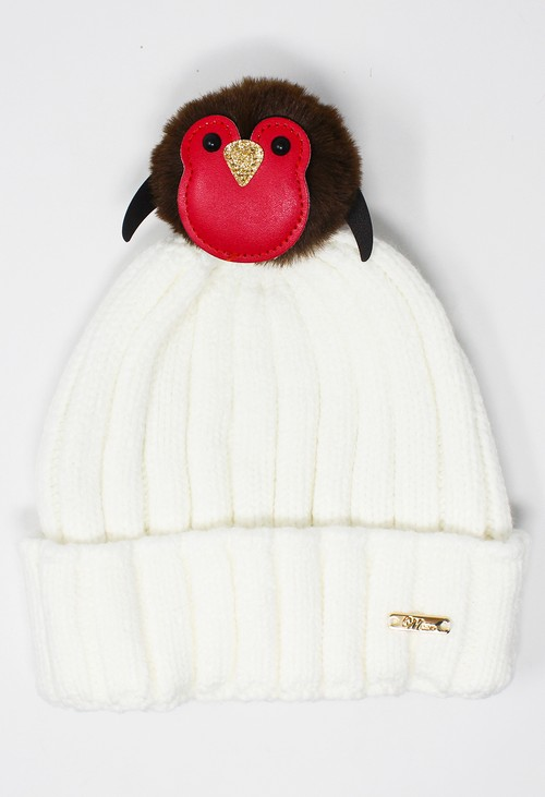 Something Special Off White Mix and Match Pompom Hat