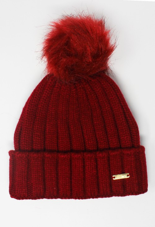 Something Special Red Mix and Match Pompom Hat