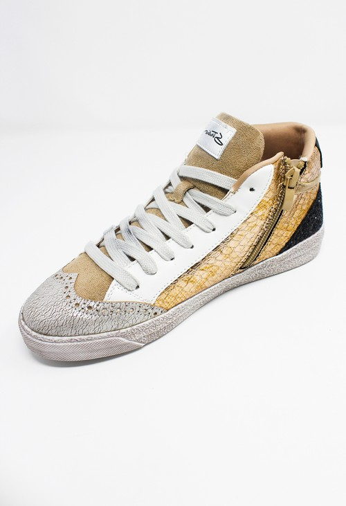 Shoe Lounge Bronze Snakeskin Trainers