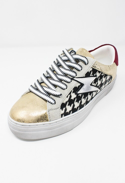 Shoe Lounge Hounds Tooth Panel Trainers