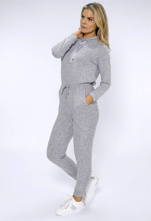 Twist Light Grey Knit Joggers