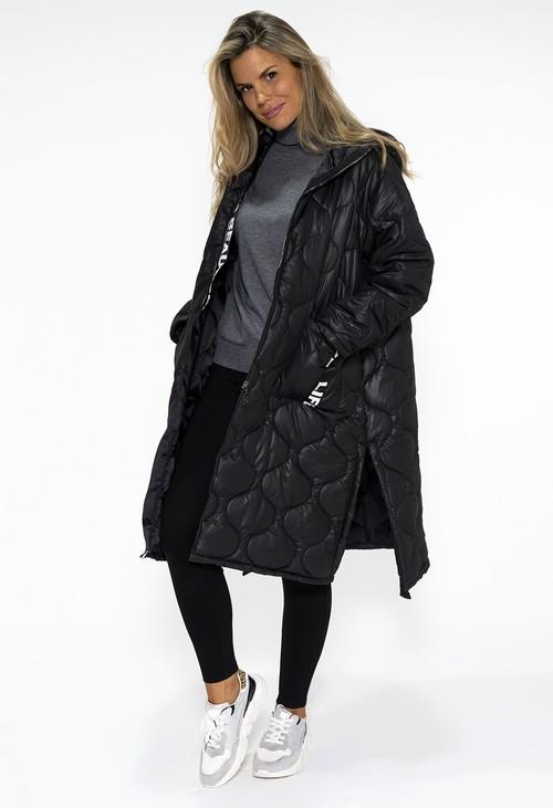 Pamela Scott Pre-Order: Black Oversized Quilted Coat