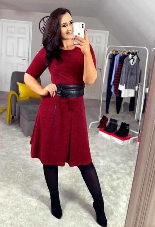 Zapara Red Knit Dress