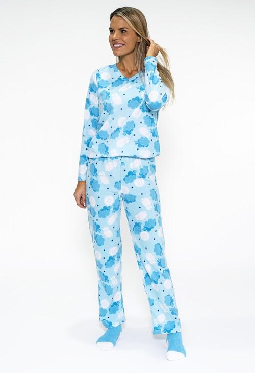PS Nightwear 3 piece microfleece sheep print pyjama set with plush socks