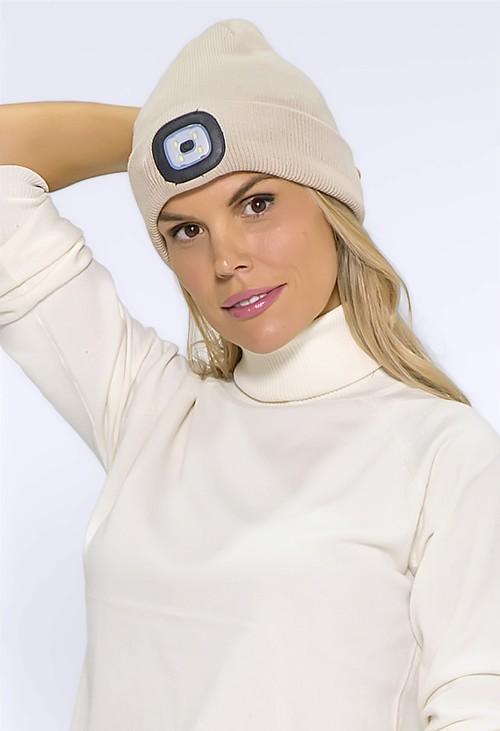 Pamela Scott Beige LED Light Hat