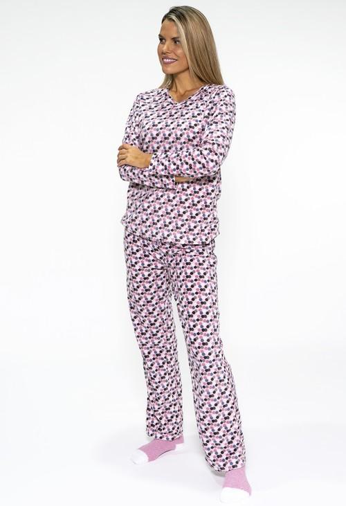 PS Nightwear 3 piece microfleece polka dot print pyjama set with plush socks