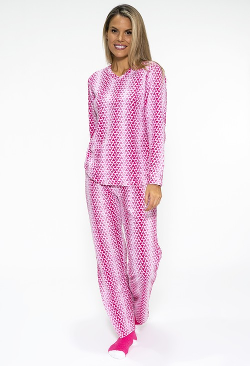 PS Nightwear 3 piece microfleece ZIGZAG print pyjama set with plush socks