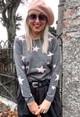 Twist Grey Star Print Knit